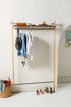 Theo Wall-Mounted Clothing Rack by District Eight in Brown Size: All, Storage at Anthropologie Hanging Bar, Hanging Racks, Home Depot, Wall Mounted Clothing Rack, Clothing Racks, Women's Clothing, Hanging Furniture, Garment Racks, Walk In Closet
