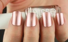 With Essie Antique Rose #pink #rose #nails #nailpolish - bellashoot.com