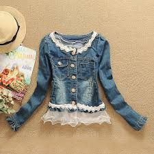denim and lace jacket - Google Search