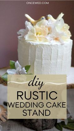 Are you planning a minimalist rustic wedding within a budget? This DIY rustic wedding cake stand will be perfect with your rustic wedding theme! #rusticweddingdecor #diyweddingtutorials #diyweddingdecor #minimalistweddinginspiration