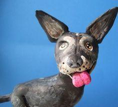Customize Dog-clay folk art sculpture