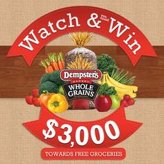 WATCH Canadian funny man Gerry Dee take control of a juice bar for a day and WIN $3,000 for free groceries with Dempsters! Free Groceries, Cereal, Nutrition, Giveaways, Funny Man, Food, Coupons, Juice, Mary