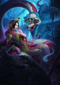 As ilustrações de fantasia para games de Wen Juinn Png