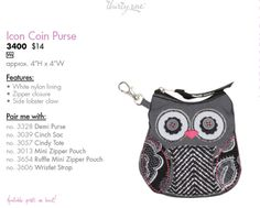 Owl Change Purse  You can order it at http://www.thirtyonegifts.com/catalog/page40_41