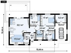 Családi ház tervek, családi ház alaprajzok, családi ház építés - Z500Hungary Floor Plans