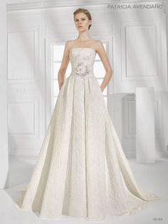 21 - vestido de noiva princesa brocado com top bordado em flor de patricia avendano 2016