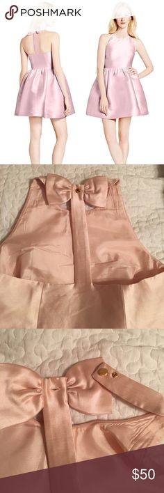 """Kate Spade Dress Light pink, back has a bow and is a """"t"""", in perfect condition (I purchased from another posher, but it didn't fit me quite right), please let me know if you have any questions :) kate spade Dresses"""