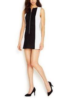 Rachel Roy New $129 Sleeveless Colorblocked Eyelet Sheath Dress Size 4 #RachelRoy #Sheath #Casual