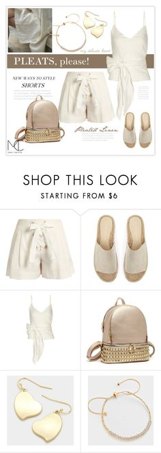 """""""Pleated Linen Shorts"""" by mcheffer ❤ liked on Polyvore featuring Fifty Four, Sonia Rykiel, Mint Velvet, Sea, New York and pleats"""