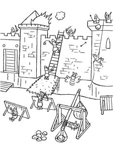 Abc Coloring Pages, Coloring Books, School Themes, Classroom Themes, Christmas To Do List, Knight Party, Legends And Myths, Château Fort, Kids Learning Activities