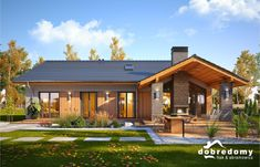 Barn House Design, Home Building Design, Building A House, Dream House Exterior, Dream House Plans, Gable House, Architectural House Plans, Outdoor Stairs, Bungalow