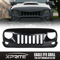 Give your Jeep a Rugged Eagle Eye look. Matte Black, Ready to Paint. 1 X Black Front Eagle Eye Grille. 2007-2017 Jeep Wrangler Rubicon Sahara JK Unlimited 2 & 4 Door. Grow light & Tent. Will perfectly match with original mounting holes. | eBay!