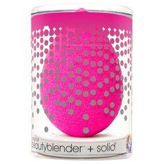 Beautyblender Original + Mini Solid Cleanser Kit (Makeup Applicator), Ivory cream