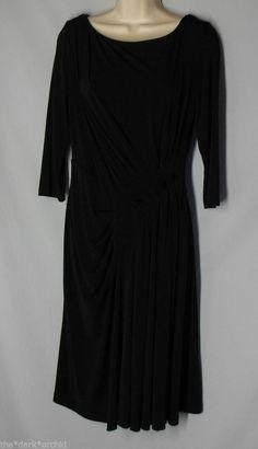 MAGGIE LONDON Black Stretch Pintucked Dress Size Small Medium ? #MaggieLondon #StretchBodycon
