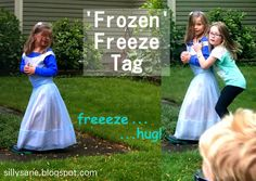 """""""Frozen"""" birthday party game freeze tag"""