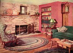 1952 mid century modern living room #retrohome #retrorenovation #retrofurniture http://www.retrorealtygroup.com
