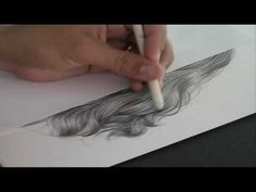 Como Desenhar Cabelos passo a passo - DVD vol.03 - Charles Laveso http://charleslavesocursodesenhorealista.blogspot.com.br/