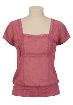 Lace Banded Bottom Top - maurices.com #Trixxi