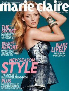 Blake Lively covers Marie Claire India Sept 2012 in Antonio Berardi