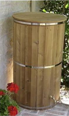 wooden downspouts   Attractive Wooden Rain Barrel