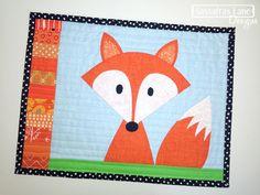 Mr. Fox Mini Quilt by Sassafras Lane Designs, via Flickr but the design would make a super cute card
