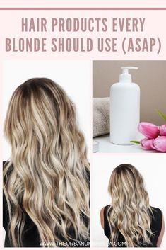 Hair feeling a bit dry and damaged from lightening it? Here are a few products you should use ASAP to get your hair back to feeling healthy and strong and looking shiny and gorgeous. Coconut Oil Beauty, Coloring Tips, Natural Blondes, Luxury Hair, Beauty Hacks, Beauty Advice, Beauty Secrets, Blonde Balayage, Beauty Routines
