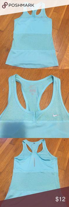 Nike workout tank Pretty mint workout tank, Nike brand. Slim fitting Nike Tops Tank Tops