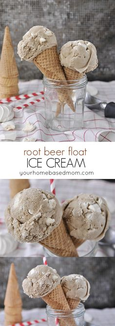 Root Beer Float Ice Cream - the perfect summer treat in ice cream form!