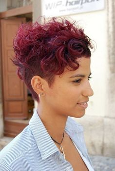 Trendy Shaved Haircut for Short Curly Hair