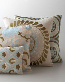 Khaki, Olive, & Aqua Pillow Collection