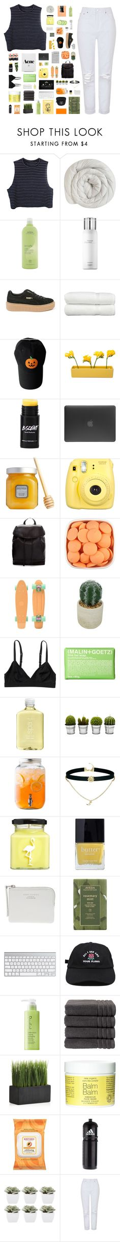 """come here i'm your paradise"" by novemberkook ❤ liked on Polyvore featuring Aveda, Hermès, Puma, Linum Home Textiles, Dot & Bo, Incase, Laura Mercier, Fujifilm, Zara and Threshold"