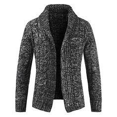 d2802e71d88 Daoroka Men's Long Sleeve Slim Pocket Fit Sweater Jacket Coat Button Autumn  Winter Warm Outwear Casual Tops Best Winter Coats for Women USA