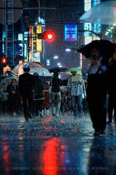 Beautiful Japanese night street