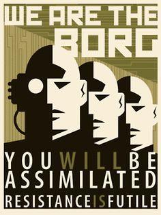 borg star trek resistance is futile - Google zoeken