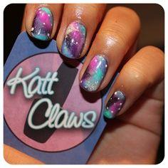 DIY Galaxy Vans and Galaxy nails to match. ... | Katt Claws