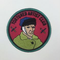"""Tortured Artist"" patch. We all know that person (Or we are them). Life is hard."