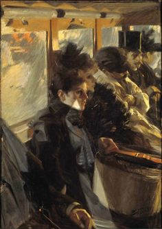 Anders Zorn (Swedish painter, sculptor and printmaker in etching) 1860 - 1920 The Omnibus (second version), 1892 oil on canvas 126 x 88 cm.