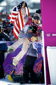 American Sage Kotsenburg of Park City, Utah won the first gold medal of the Olympics in men's slopestyle snowboarding, and he did it by trying a trick he had never done before!