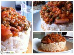 Riz semi-complet à la sauce bolognaise végétalienne