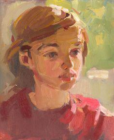 jongen met rode trui