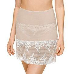Treska Women's Embrace Lace Half Slip - 813291 - Naturally Nude/Ivory - M Lace Slip, Under Dress, Wacoal, Ladies Slips, Sheer Fabrics, Floral Lace, Lace Shorts, Luxury Fashion, Sexy