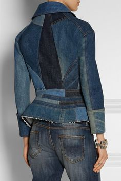 Mid-blue denim Button fastenings through double-breasted front 100% cotton Dry clean Designer color: Indigo