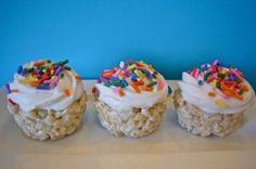 Rice Krispie Treat Cupcakes