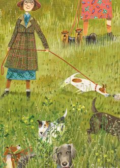 'Afternoon Stroll In The Park' By Painter Stephanie Lambourne. Blank Art Cards By Green Pebble. www.greenpebble.co.uk