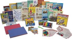 Preschool 3 or 4 year old curriculum from sonlight. I already have some of these books, but great inspiration for literature based learning. Homeschool Curriculum Packages, Kindergarten Curriculum, Homeschool Math, Homeschooling, Curriculum Planning, Tot School, School Fun, Preschool Books, Free Preschool