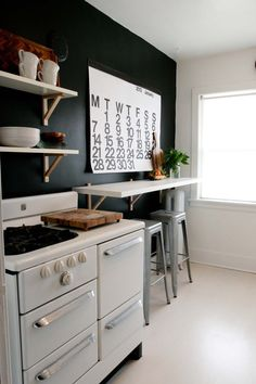 Get the Look:  Black, White, Wood Kitchen   Style & Renovation Resources