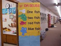 One Fish Two Fish Door Decoration Clutter-Free Classroom: Dr. Seuss Theme Classroom