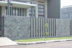 Fabulous Useful Ideas: Terrace Fence Design front yard fence white.Fence And Gates Drawings fence ideas color.Chain Link Fence Home. Brick Fence, Concrete Fence, Front Yard Fence, Farm Fence, Fenced In Yard, Pallet Fence, Bamboo Fence, Cedar Fence, Wooden Fence