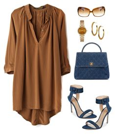 """""""Untitled #995"""" by gallant81 ❤ liked on Polyvore featuring Hidden Spectrum, Chanel, Aperlaï, Michael Kors, Argento Vivo and Oliver Peoples"""
