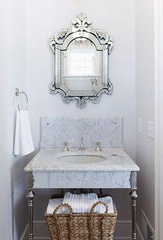 Venetian Mirror via Hendel Homes